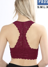 Lucy Lace Padded Racerback Bralette
