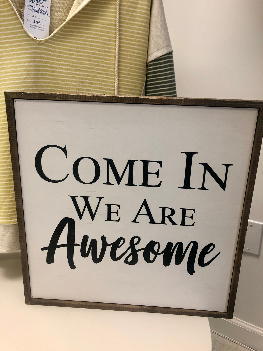 16x16 Come In We Are Awesome