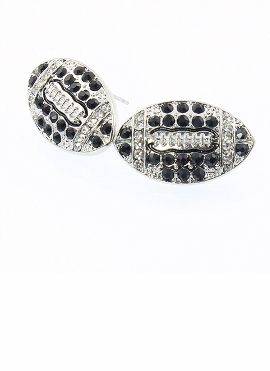 Razzle Dazzle Football stud earrings