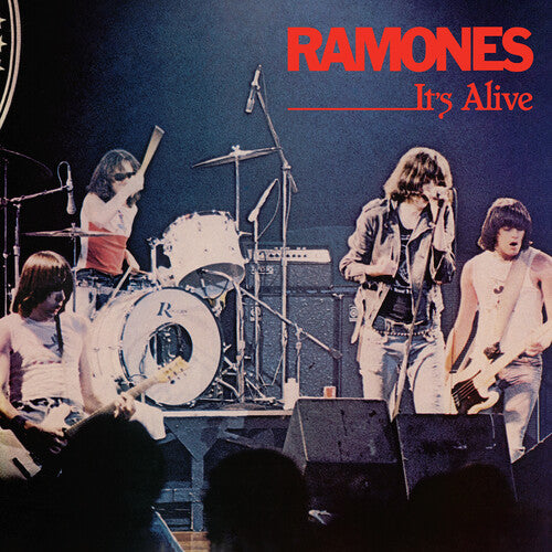 RAMONES (1/24) It's Alive (live)[2020] *indie exclusive* red & blue 2LP reissue NEW, SEALED