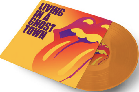 "ROLLING STONES Living in a Ghost Town [2020] 10"" single ORANGE vinyl SEALED, NEW"