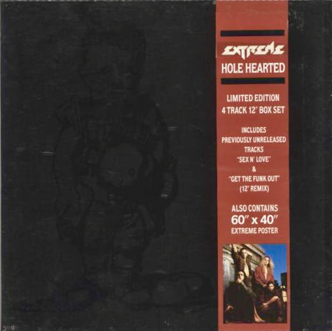 "EXTREME ""Hole Hearted"" [1991] 12"" single box w poster USED"