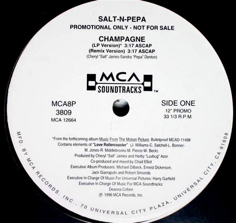 "SALT-N-PEPA ""Champagne"" [1986] promo 12"" single USED"