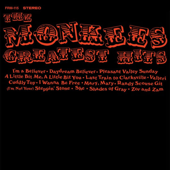 MONKEES Greatest Hits [2019] Ltd Ed ORANGE audiophile press SEALED, NEW