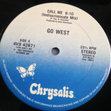 "GO WEST ""Call Me (indiscriminate mix)""/""We Close Our Eyes"" [1985] promo 12"" single USED"