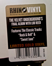 "VELVET UNDERGROUND Loaded [2017] ""Rocktober"" Gold vinyl reissue SEALED NEW"