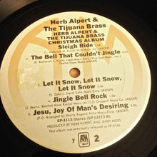 CHRISTMAS: HERB ALPERT & THE TIJUANA BRASS Christmas Album [1981 reissue] USED