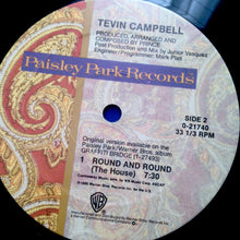 "TEVIN CAMPBELL ""Round and Round"" [1990] 12"" single Paisley Park Prince USED"
