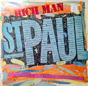 "ST. PAUL ""Rich Man"" [1987] 12"" Single The Family, The Time, Prince USED"