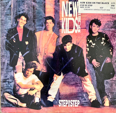 "NEW KIDS ON THE BLOCK ""Step By Step"" / ""Valentine Girl"" [1990] 12"" Maxi single USED"