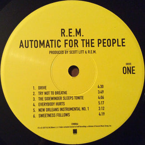 R.E.M. Automatic For The People (1992) 2017 25th Anniv reissue NEW, SEALED