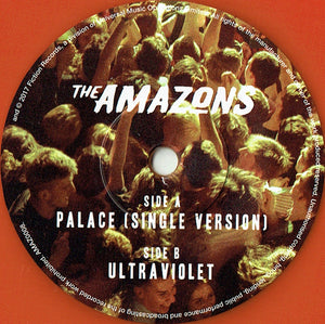 "AMAZONS ""Palace (single version)""/""Ultraviolet"" [2018] ORANGE 7"" single NEW"