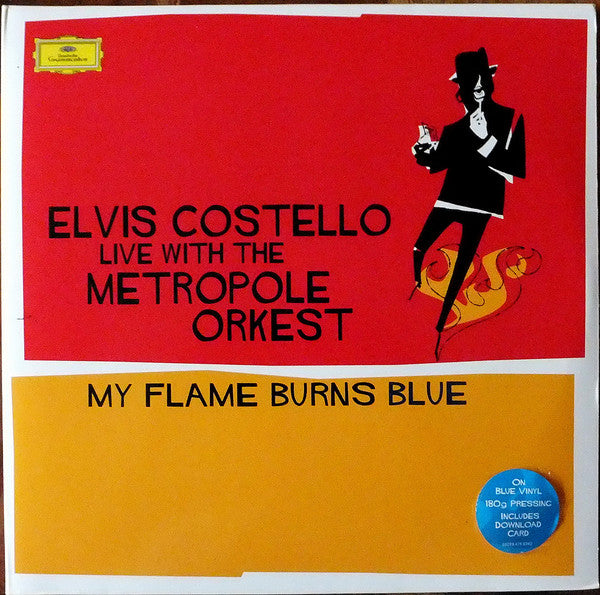 COSTELLO, ELVIS My Flame Burns Blue (Live With The Metropole Orkest) [2016] 180g 2LP BLUE vinylSEALED, NEW