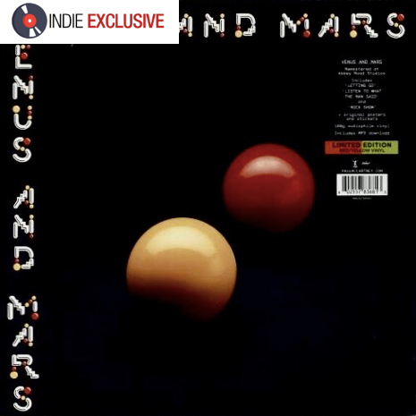 WINGS - Venus and Mars [2017] *indie exclusive* Red/Yellow vinyl reissue MCCARTNEY SEALED NEW