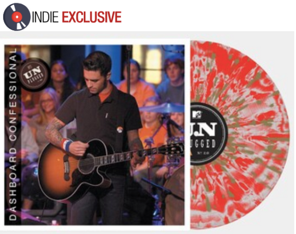 DASHBOARD CONFESSIONAL (9/25) MTV Unplugged 2.0 [2020] *indie exclusive* Cloudy Red/ Peach colored vinyl SEALED, NEW