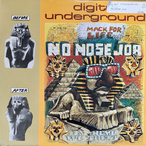 "DIGITAL UNDERGROUND ""No Nose Job"" [1992] 12"" single USED"