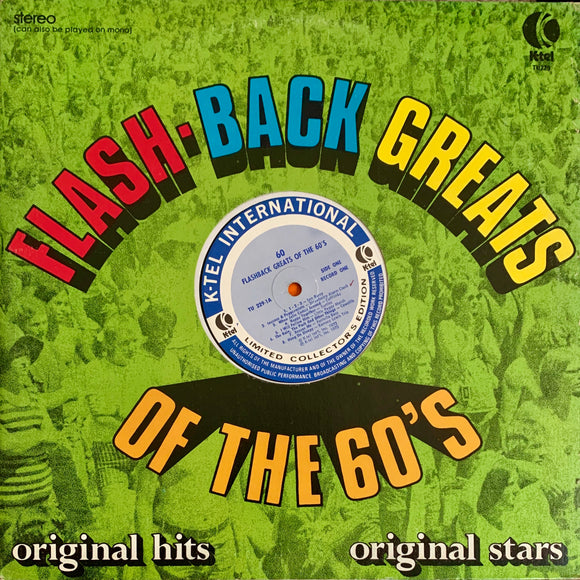 K-TEL'S FLASHBACK GREATS OF THE 60s (vol. 1) Various Artists [1973] Very Good cond. USED