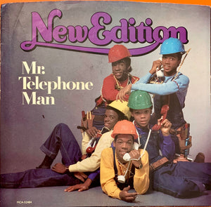 "NEW EDITION ""Mr. Telephone Man"" [1984] rare white label promo VG USED"