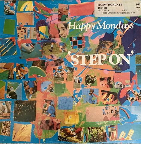 "HAPPY MONDAYS ""Step On"" (4 mixes) [1990] 12"" single USED"