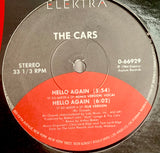 "CARS ""Hello Again"" (3 mixes) [1984] 12"" single USED"