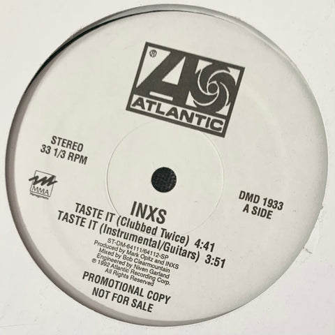 "INXS ""Taste It"" 12"" single [1992] white label promo USED"