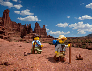 8x10 Hikers at Fisher Towers Print