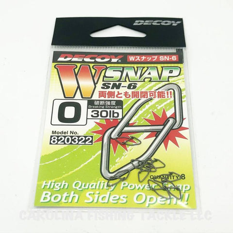 Decoy W-Snaps SN-6 8pk - Carolina Fishing Tackle LLC
