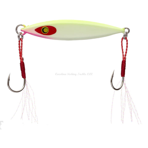 "Damiki Back Drop Spoon 2.5"" 3/4 oz-Jigging Spoon-Damiki Fishing Tackle-Chartreuse Shad-Carolina Fishing Tackle LLC"