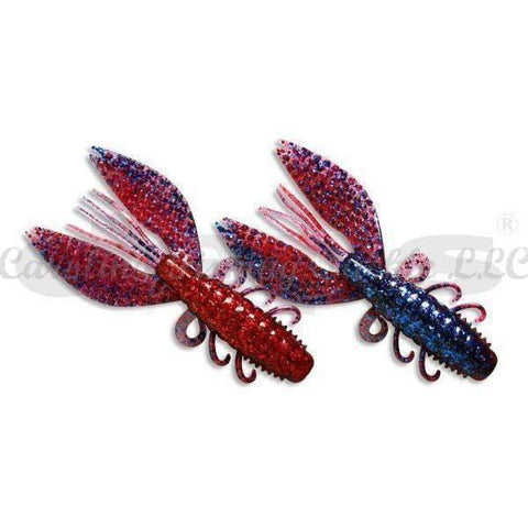 "Deps Spiny Craw 4""-Soft Creature Bait-Deps-#23 Blue Glitter/Red Glitter-Carolina Fishing Tackle LLC"