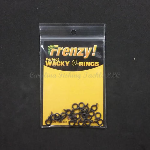 "Frenzy Baits Perfect Wacky O-Rings 25pk for 4 and 5"" Stick Baits-Spare Parts-Frenzy Baits-Black-Small-Carolina Fishing Tackle LLC"