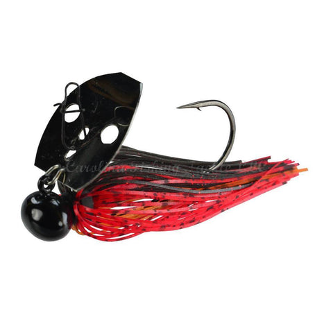 Picasso Lures Shock Blade Tungsten Knocker-Bladed Jig-Picasso Lures-Dark Red Craw/Black Nickel-3/8 oz-Carolina Fishing Tackle LLC