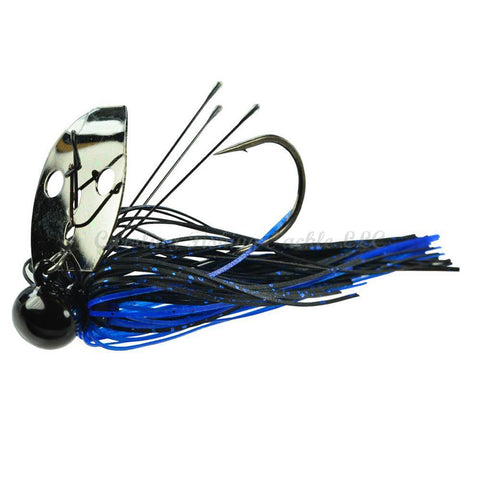 Picasso Shock Blade Heavy Cover Tungsten Knocker-Bladed Jig-Picasso Lures-Black Blue/Black Nickel-3/8 oz-Carolina Fishing Tackle LLC