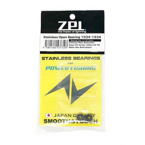 ZPI Stainless Open Bearing 1034-1034 for Power Fishing