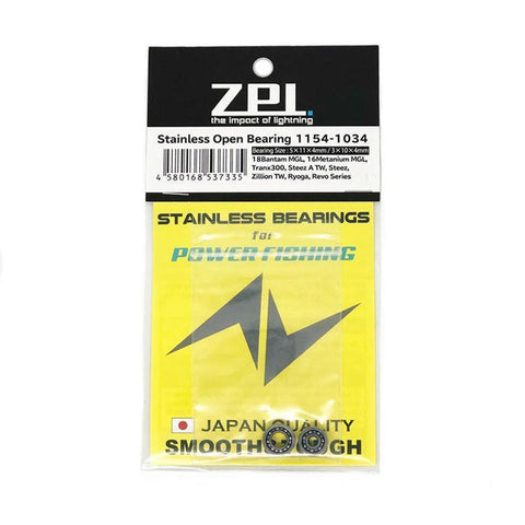 ZPI Stainless Open Bearing 1154-1034 for Power Fishing