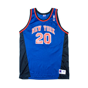 Allan Houston New York Knicks Champion jersey