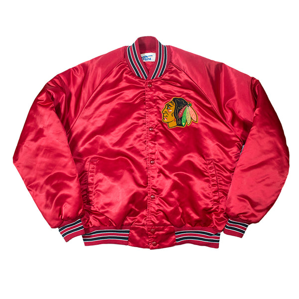 Chicago Blackhawks Chalk Line Satin Jacket