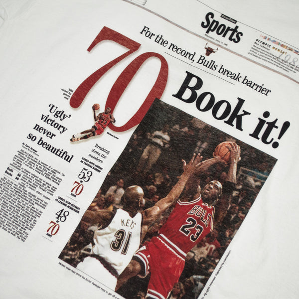 "1996 Chicago Bulls ""70 Wins Front page"" t-shirt"