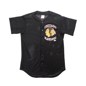 90s Chicago Blackhawks Logo Baseball Jersey