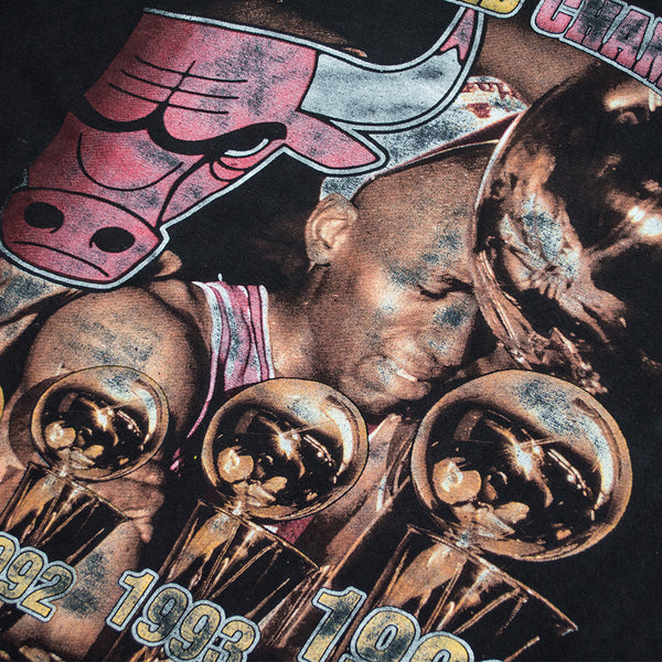 1996 Chicago Bulls Champs Rap T-shirt