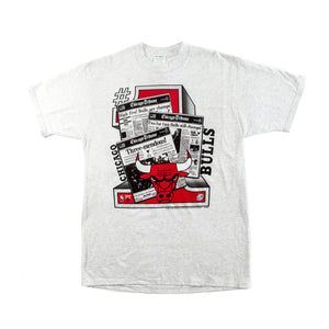 1993 Chicago Bulls Chicago Tribune T-shirt