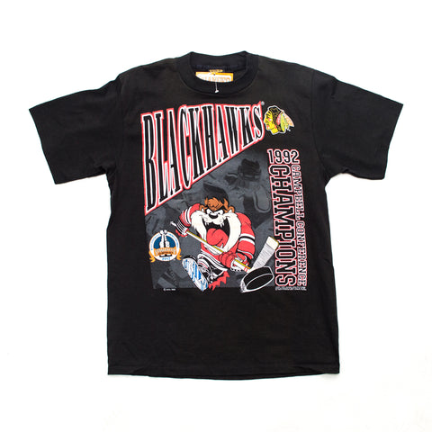 1992 Chicago Blackhawks x Taz Campbell Conference Champs T-shirt