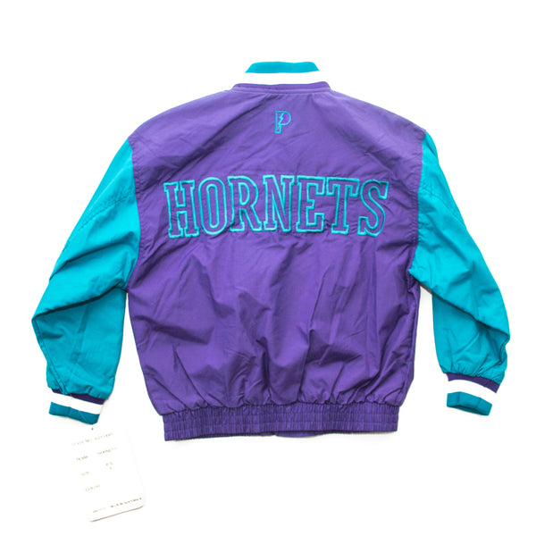 90's Youth Pro Player Charlotte Hornets Button Up Jacket