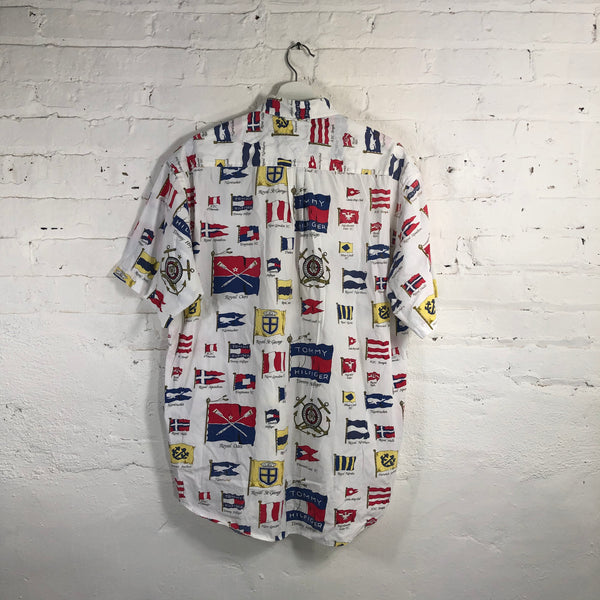 Tommy Hilfeger all over print button up
