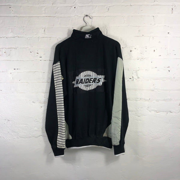 90s Starter Raiders pull over sweater