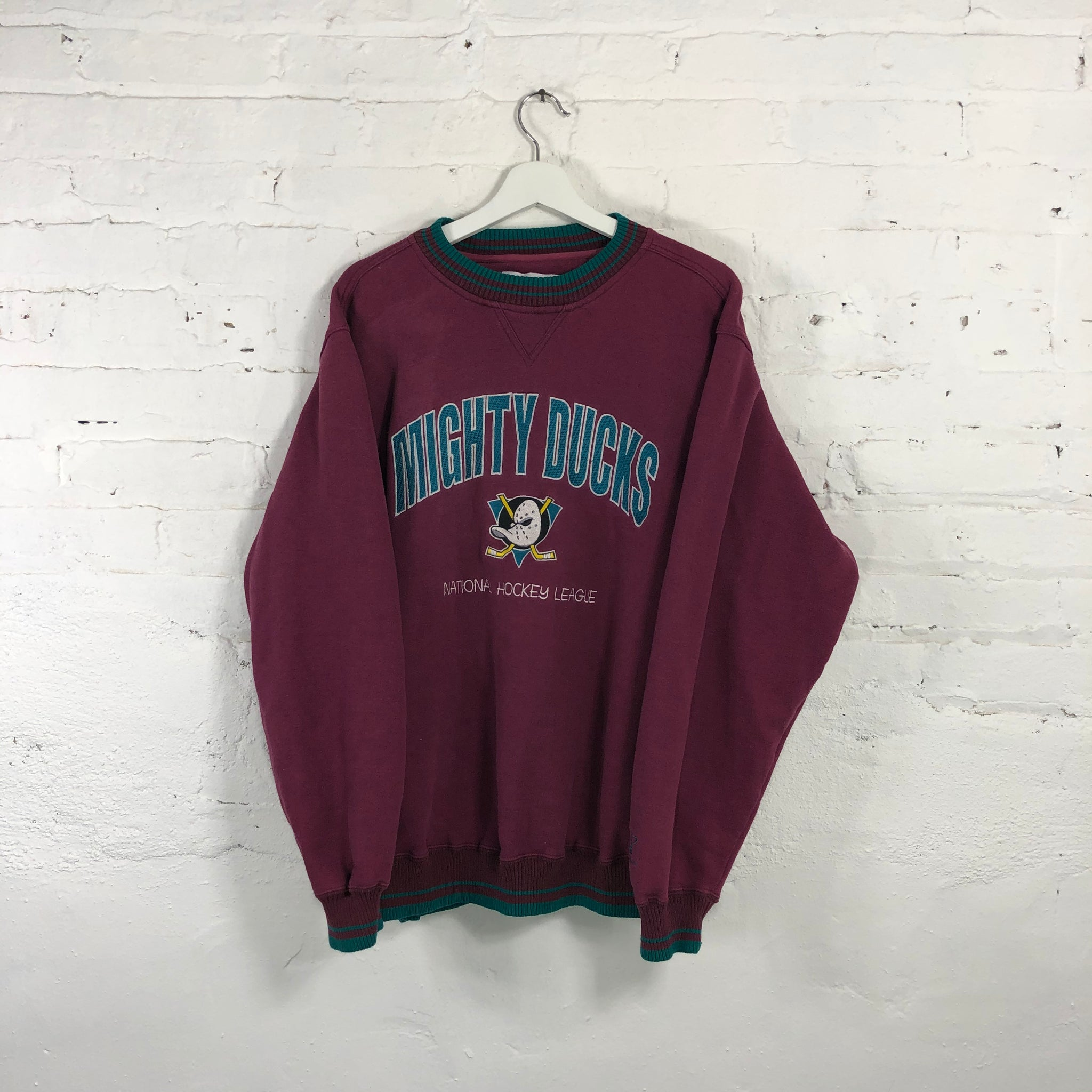 Mighty Ducks Crewneck Sweatshirt Logo Athletic