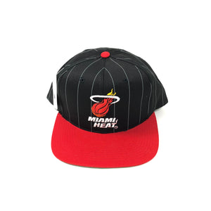 STARTER Pin Stripe Miami Heat Snapback 90s