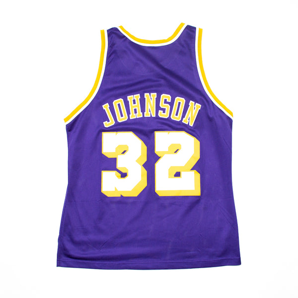 Champion Magic Johnson Los Angeles Lakers Road Jersey