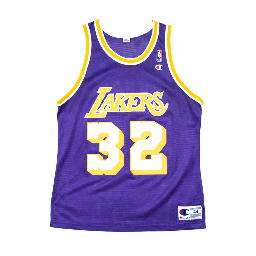 premium selection 24320 96600 Champion Magic Johnson Los Angeles Lakers Road Jersey