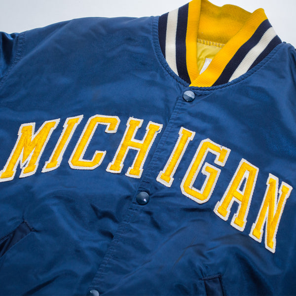 80s Starter Michigan Wolverines Satin Jacket