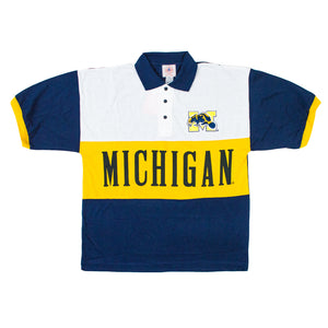 90's Michigan Wolverines Polo Shirt